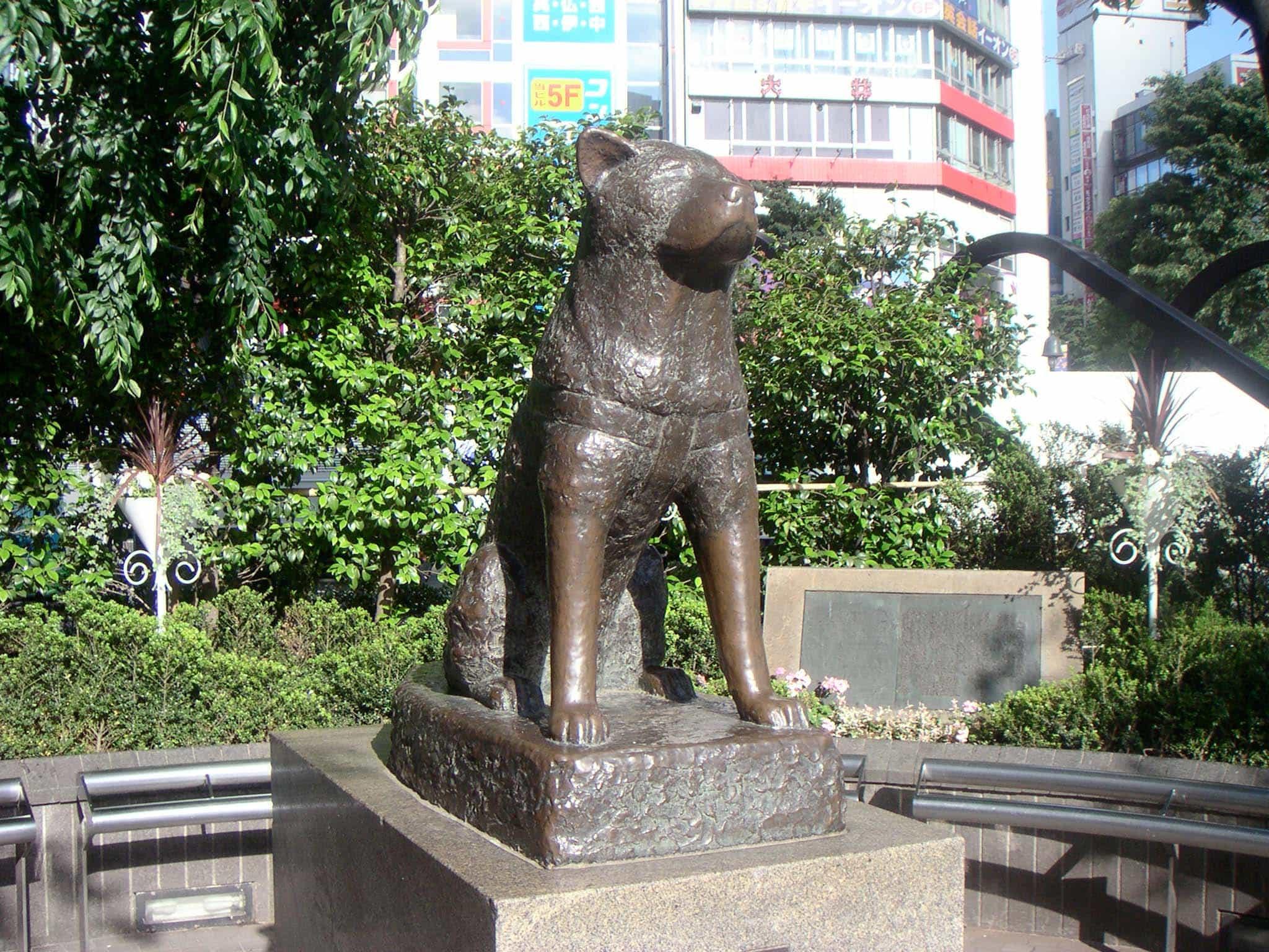 Tượng Hachiko bằng đồng